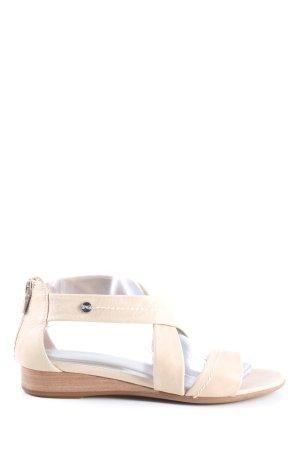 Nero Giardini Sandały z rzemykami kremowy W stylu casual