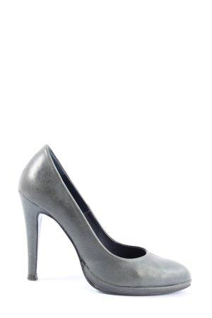 nerOpako High Heels hellgrau Business-Look