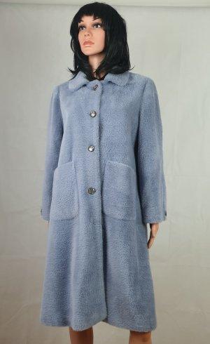 Cappotto in lana azzurro
