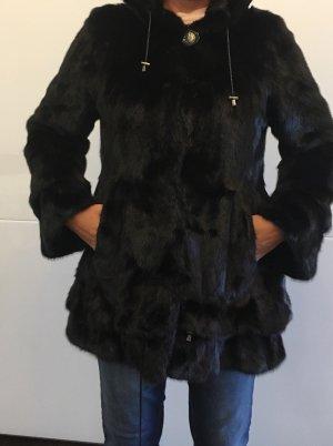 Pelliccia marrone scuro-marrone-nero