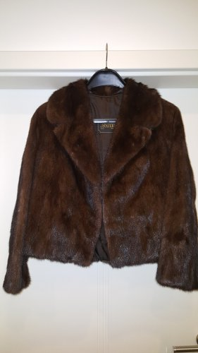 Fur Jacket brown-dark brown pelt