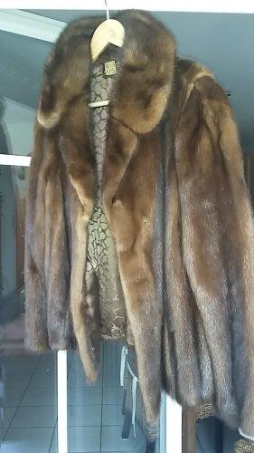 Veste de fourrure brun fourrure