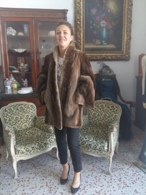 Pelt Jacket light brown-brown pelt