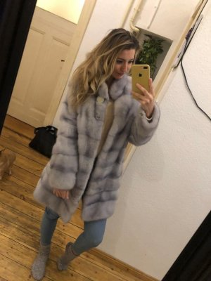 Pelt Jacket azure-light grey pelt