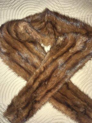 Sjaal van kasjmier brons Bont