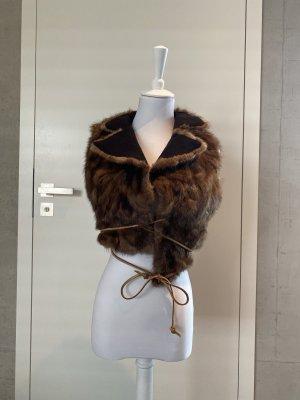 Fur vest bronze-colored pelt