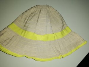 TCM Sombrero de ala ancha amarillo neón-beige claro Poliéster