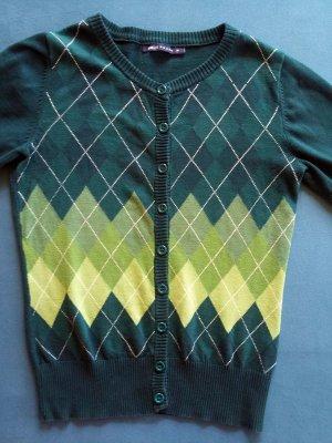 Nettes Vintage Jäckchen in dunkelgrün bis hellgrünem Karomuster