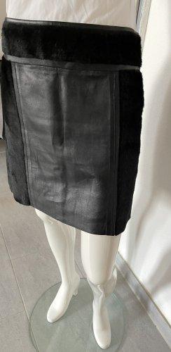 NetWork Skórzana spódnica czarny