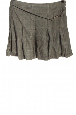NetWork Wool Skirt light grey check pattern casual look