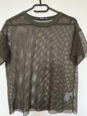 Bershka Camisa de malla multicolor