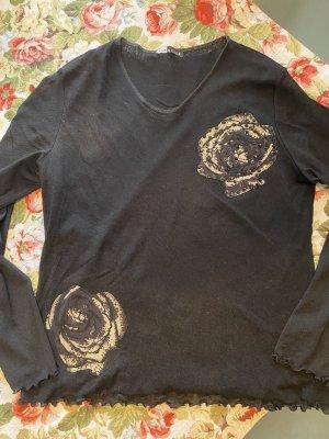 Margittes Mesh Shirt black-sand brown nylon