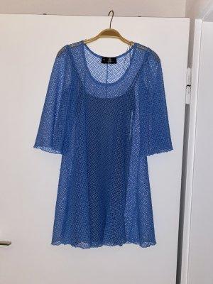 BSB Collection Babydoll-jurk azuur-staalblauw