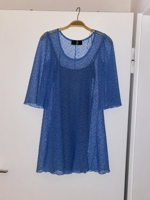 BSB Collection Vestido babydoll azul celeste-azul acero
