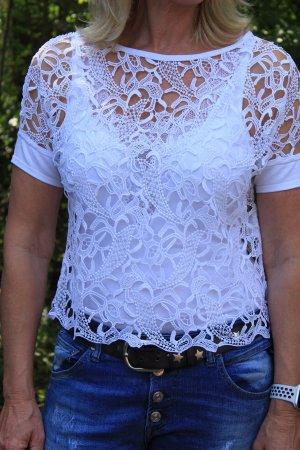 Luisa Cerano Crochet Shirt white