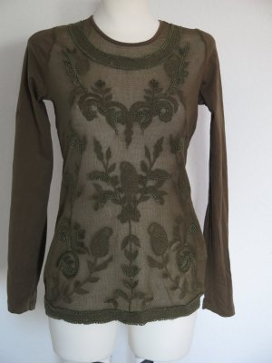 Aniston Mesh Shirt forest green-dark green cotton