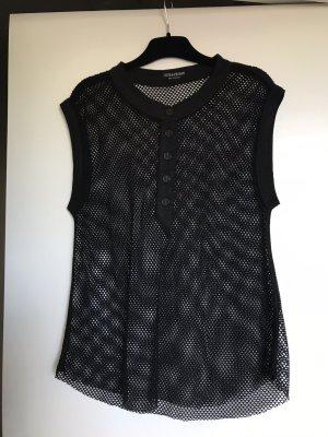 Zadig & Voltaire Siateczkowa koszulka czarny Bawełna