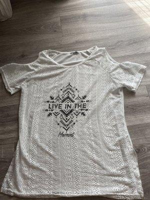 Netshirt wit-zwart