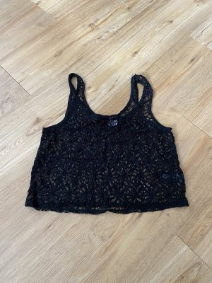 H&M Divided Top a uncinetto nero