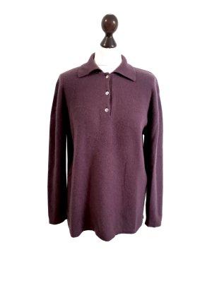 Barisal Pull en cashemire gris violet cachemire