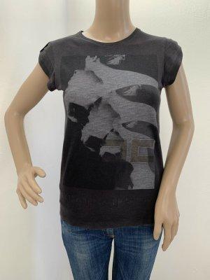 Neu 119€ Original Elisabetta Franchi T-Shirt Tank Top Shirt XS S 34 38 Baumwolle Oberteil Grau