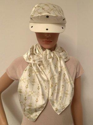 Adidas Sombrero de tela blanco puro-color oro Algodón