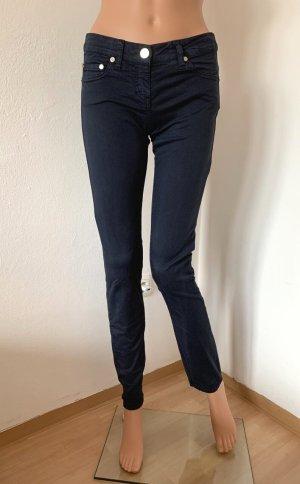 Neu 243€ Elisabetta Franchi figurbetonte elastische Business elegante klassische Hose 34 XS Baumwolle