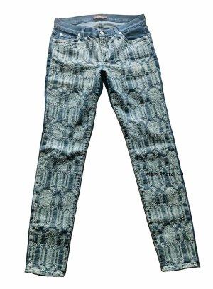7 For All Mankind Jeans skinny blu scuro Cotone