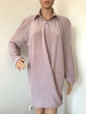 Neu 316€ oversize European Culture Hemd Shirt Tunika Seidenbluse Longbluse Top 36 S 38 M lange Bluse Seide Hemdkragen