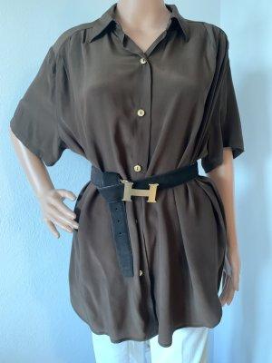 Neu 325€ oversize Seidenbluse Hemd Shirt Tunika Kaftan Top Bluse Seide M L 38 40 42