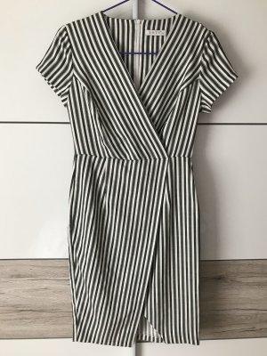 Shirtwaist dress white-dark grey
