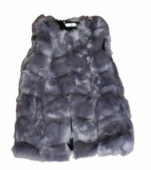 Fur vest grey polyester