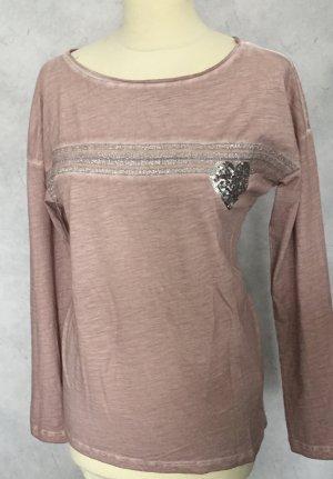 Amy Vermont T-shirt stary róż Bawełna