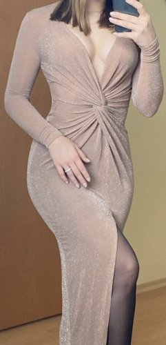 Club L Evening Dress beige