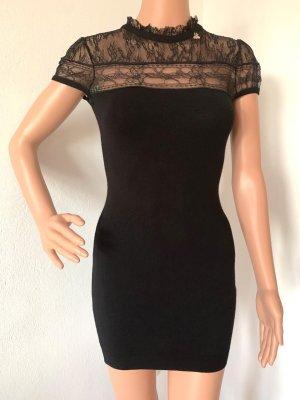 Neu 366€ Elisabetta Franchi Kleid Strickkleid Pullover Pulli Strick Sweatshirt Stricktop Spitze Spitzenkleid Spitzenshirt Spitzentop