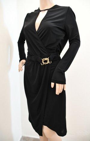 Just cavalli Robe à manches longues noir-bronze viscose