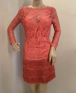 NEU 490€ Elisabetta Franchi Spitzenkleid Etuikleid figurbetontes Kleid Spitze 34 XS