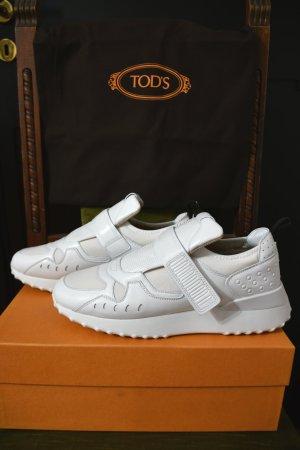 Tod's Zapatillas con hook-and-loop fastener blanco Cuero