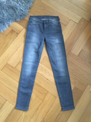 Neu 7 for all mankind Jeans Hose grau high waist w24 34 36
