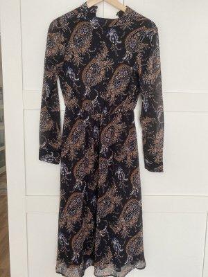 New Yorker Chiffon jurk zwart-bruin