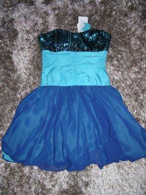 Swing Bandeau Dress dark blue-neon blue