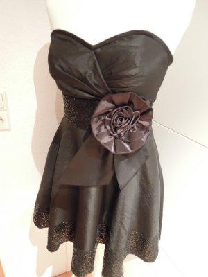 NEU Abendkleid Cocktailkleid 60er Jahre sixty Kleid schwarz Taft trägerlos Gr. 38 Korsagenkleid Corsagenkleid Abiball Abiballkleid Tanzkleid