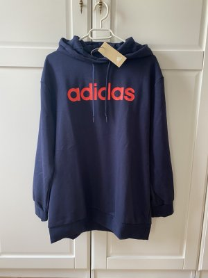 Neu Adidas Long Hoodie Gr.M L langes Sweatshirt blau Sport