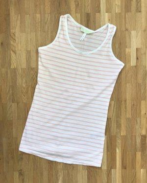 NEU Adidas Neo Top XS 34 Streifen Tanktop Shirt Sommer Rose Sport T-shirt