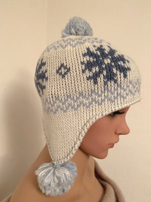 Adidas Bobble Hat white-azure wool