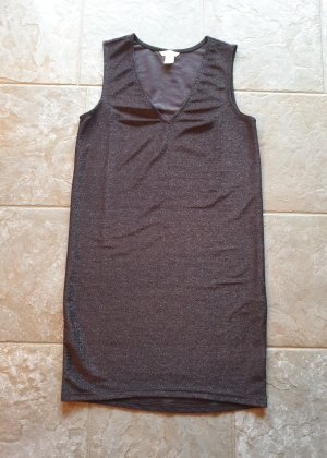 H&M Tube Dress black-silver-colored polyester