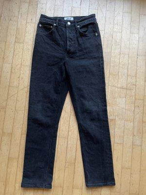 AGOLDE Jeans met rechte pijpen zwart-antraciet