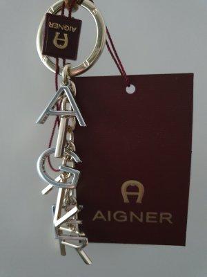 Aigner Breloczek do kluczy srebrny-złoto