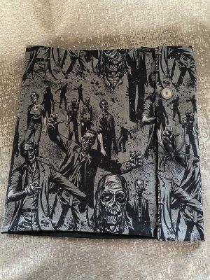 Scialle nero-grigio Cotone