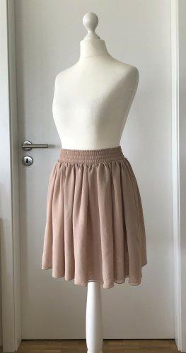American Apparel Falda de talle alto rosa empolvado-rosa Poliéster